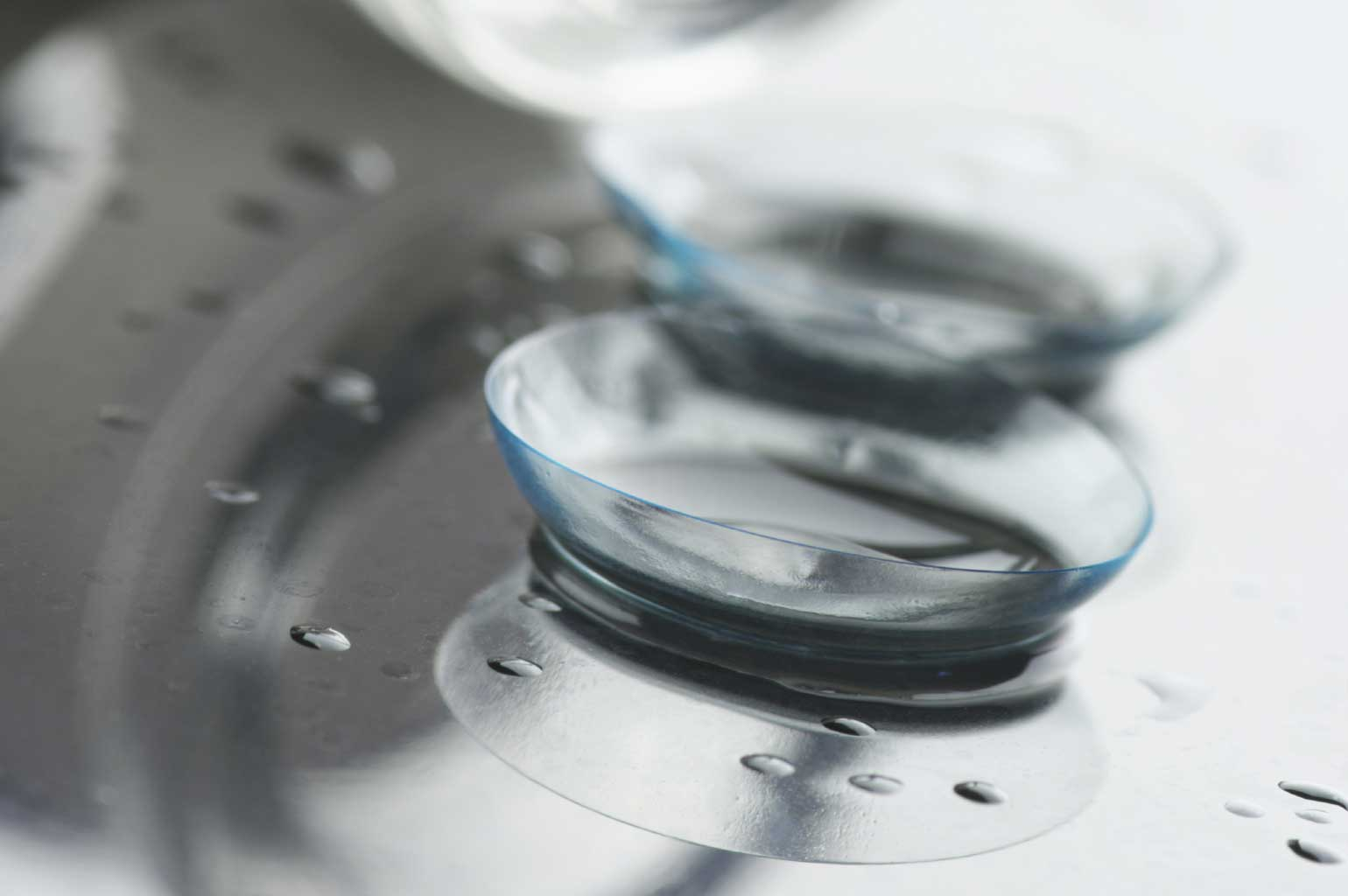 Close up of a contact lense