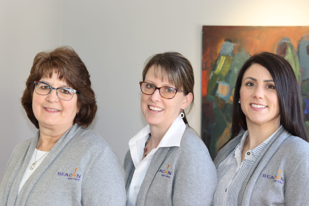 Three of the team members at Beacon Eye Care
